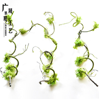 120cm Artificial plastic moss Vine Hanging Plants Dry Branch for Scene Layout Occasion
