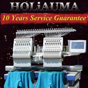 HOLiAUMA computerized 2/double/two head 15 needles embroidery machine hat/t-shirt/flat machine factory in China