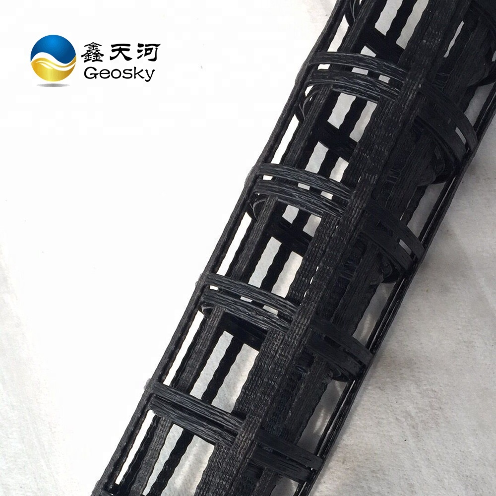 Plastic retaining wall/soil foundation/turf/steep slope HDPE uniaxial geogrid price