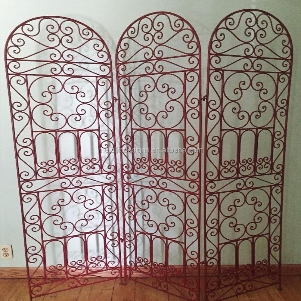 folding doors room dividers,metal art folding wrought Iron Room Divider