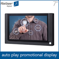 FlintStone 7 inch mirror with stand automatic play touch screen monitor