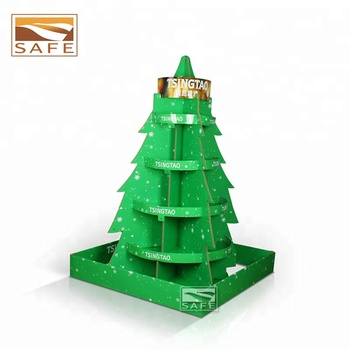 custom 4 sided christmas tree walmart cardboard pop pos retail pallet floor beer can bottle - Christmas Tree Walmart
