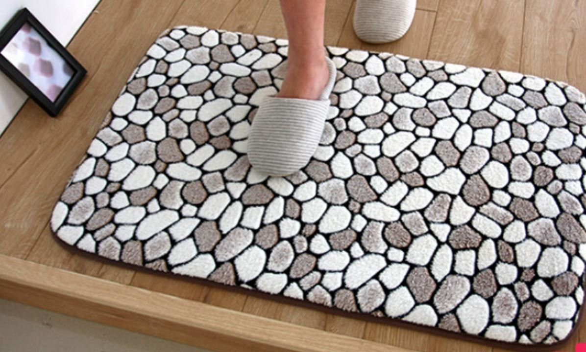 Get Quotations · Bathroom Floor Mat Doormats Balcony Kitchen Rugs Living  Room Bedside Carpet Footcloth (400mm X 600mm