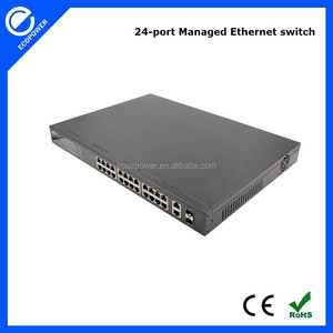 10/100Mbps 2 gigabit 2 SFP combo 24 port managed Ethernet switch network switch