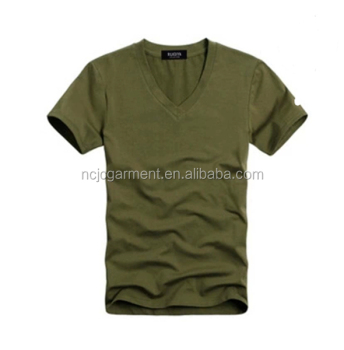 20e65780bd96 cotton v neck army green solid color t shirts for men 2014 fashion design t  shirts