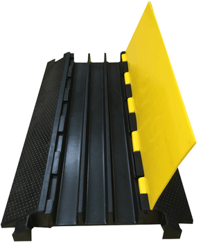 Pvc Cover Rubber Floor Cable Protector Heavy Duty Wire Cover 3channels Road  Ramp Cable Protector