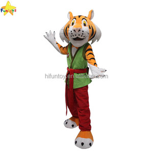Funtoys CE custom kongfu tiger cartoon mascot costumes