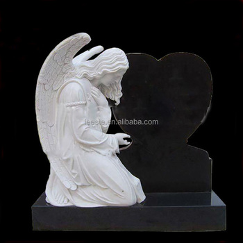 Cheap Price White Headstone Black Marble Monument Tombstone For Memorial