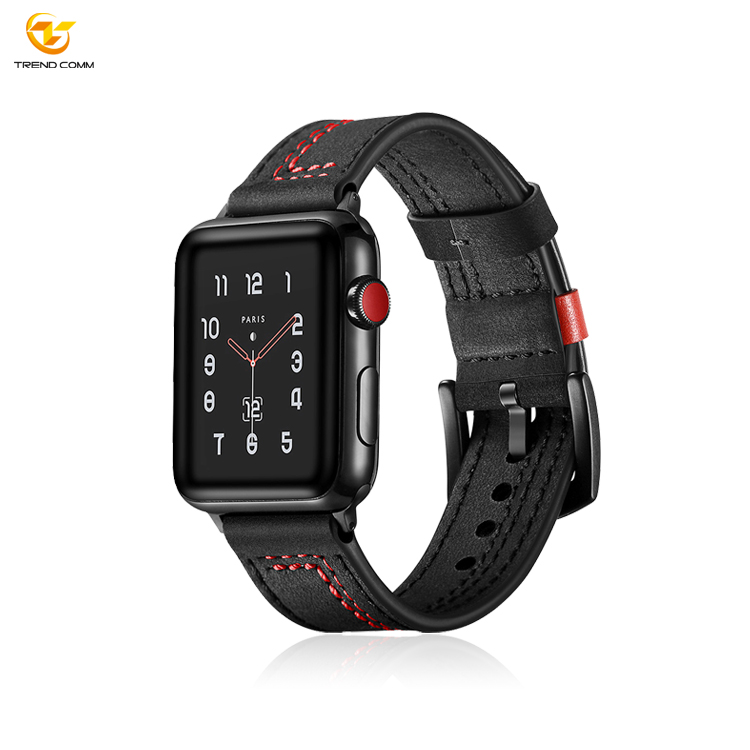 2019 Leather Smart Watch Strap For Apple Watch Series 4