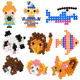 Eco-friendly children kids intelligence education 3D DIY Nontoxic Color Magic Water Beads puzzle