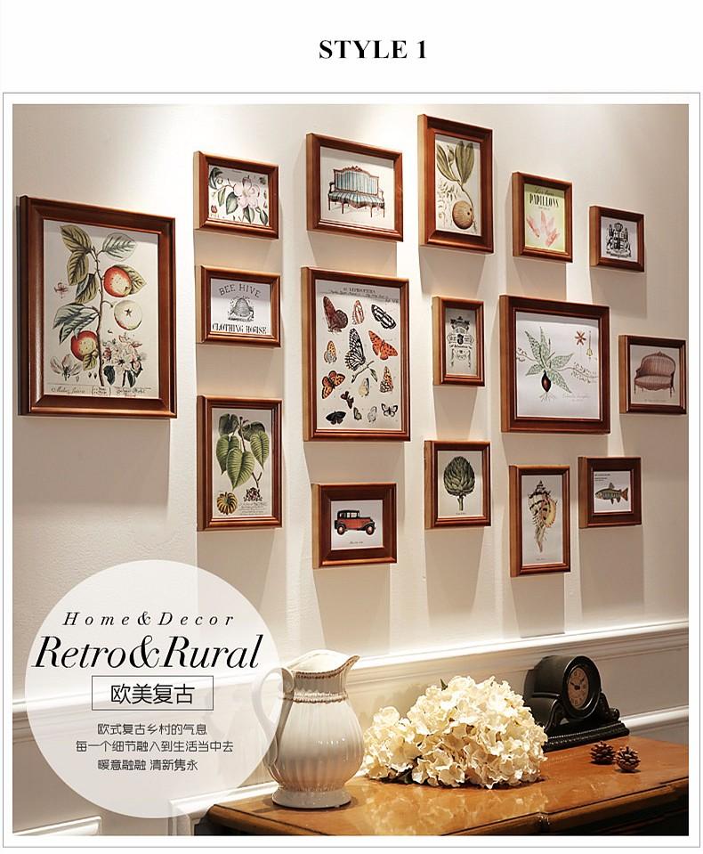 gro handel 16 teile satz holz bilderrahmen familie vintage bilderrahmen sets collage. Black Bedroom Furniture Sets. Home Design Ideas