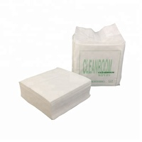 0609 56gsm 6x6 inch Woodpulp Polyester White Absorbent Disposable Industrial Lint Free Clean Room Wipes For Electronic
