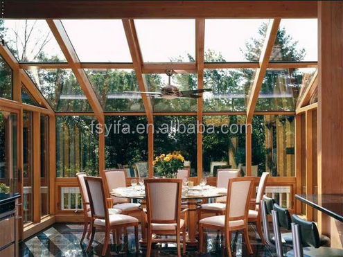 High quality aluminum garden sunrooms furniture sets designs for sale