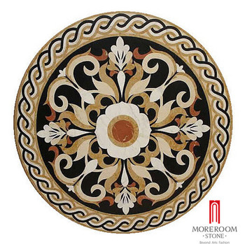 floor waterjet round medallion in medallionsplus marseille stone medallions inlay com stock