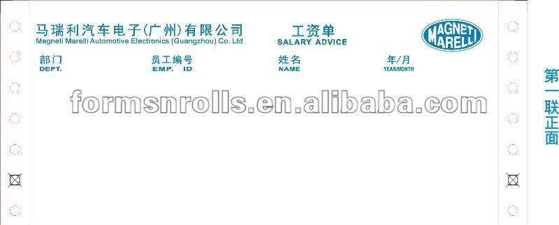 Finden Sie Hohe Qualität Lohnzettel Druck Hersteller und Lohnzettel ...