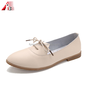 New genuine leather shoes women flat shoes