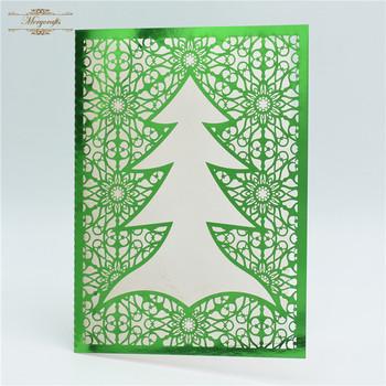 simple and elegant laser cut paper baptism invitation card