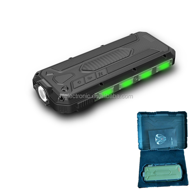 All in one portable emergency car jump start with power bank and car hammer
