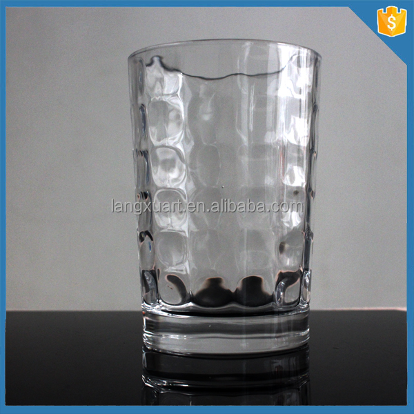 High quality drinking embossed glass tumbler
