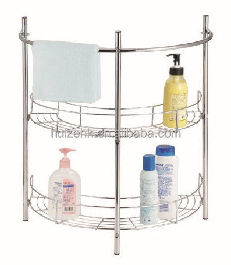Corner Shower Caddy.Never Drill Again Draad Two Tier Corner Shower .