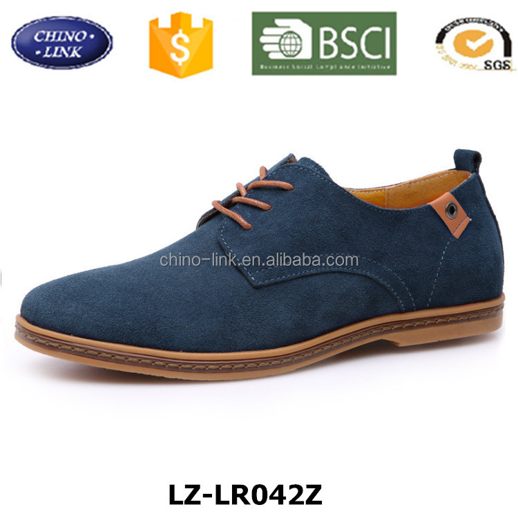 Large Stock man leather shoe, fashion Preppy style Oxfords rubber sole men comfortable hot sell casual shoe