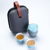 Japanese porcelain portable no handle travel ceramic tea set with infuser