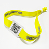 RFID qr code print textile MIFARE Plus S 1K fabric wristband with logo woven