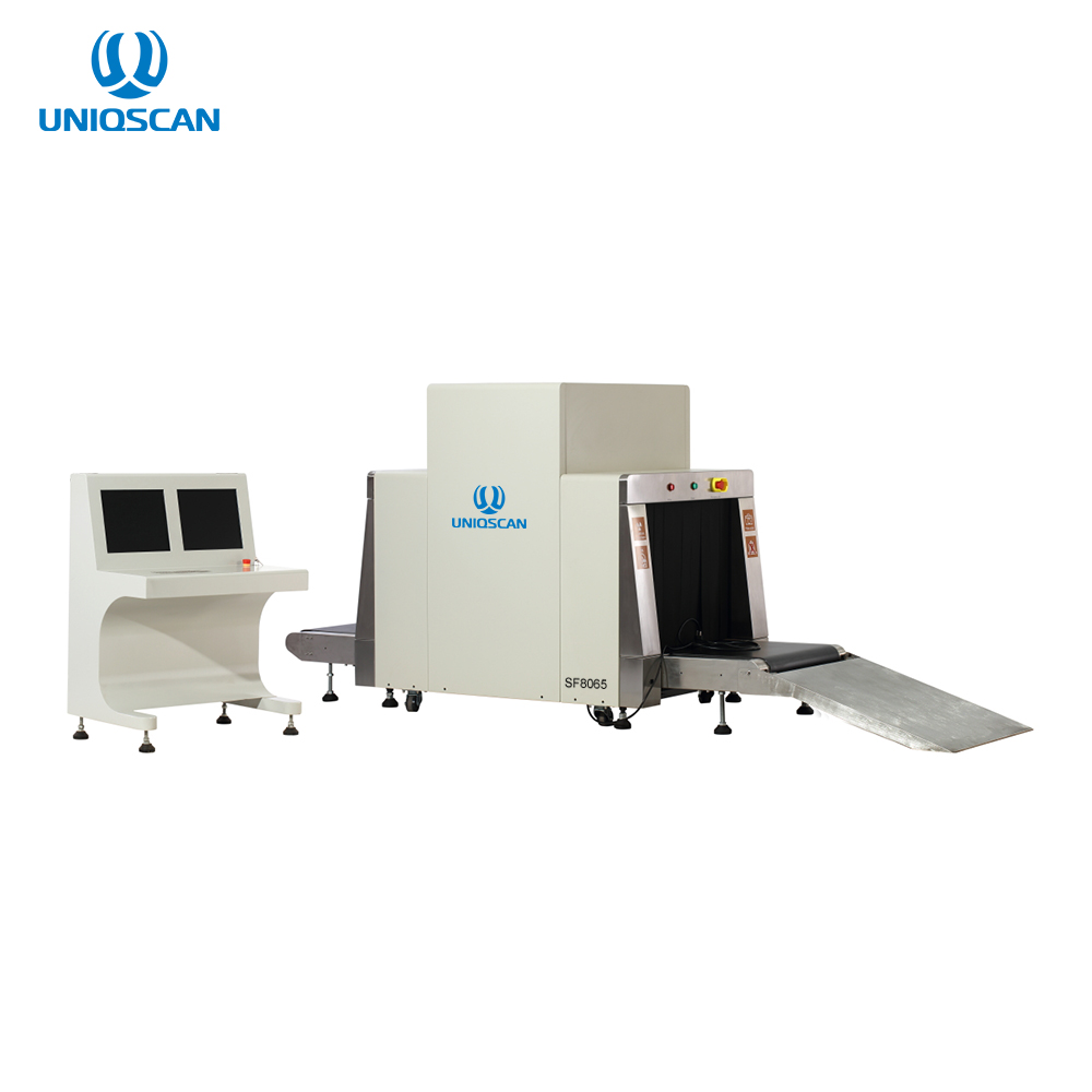 Radiation leakage safety SF8065 xray baggage scanner detector for Hotel, Parison, Sport ect