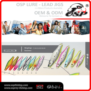 7g wholesale high quality lead metal jigging OSP Lead JIGS lure artificial fish lures 2084