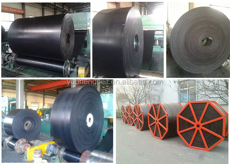 EP 800 4 Ply Mpa 18 Rubber Fabric Conveyor Belt For Mine And Stone