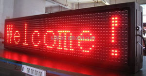 DIP semi-outdoor 320*160 mm bright red P10 LED moving message module display