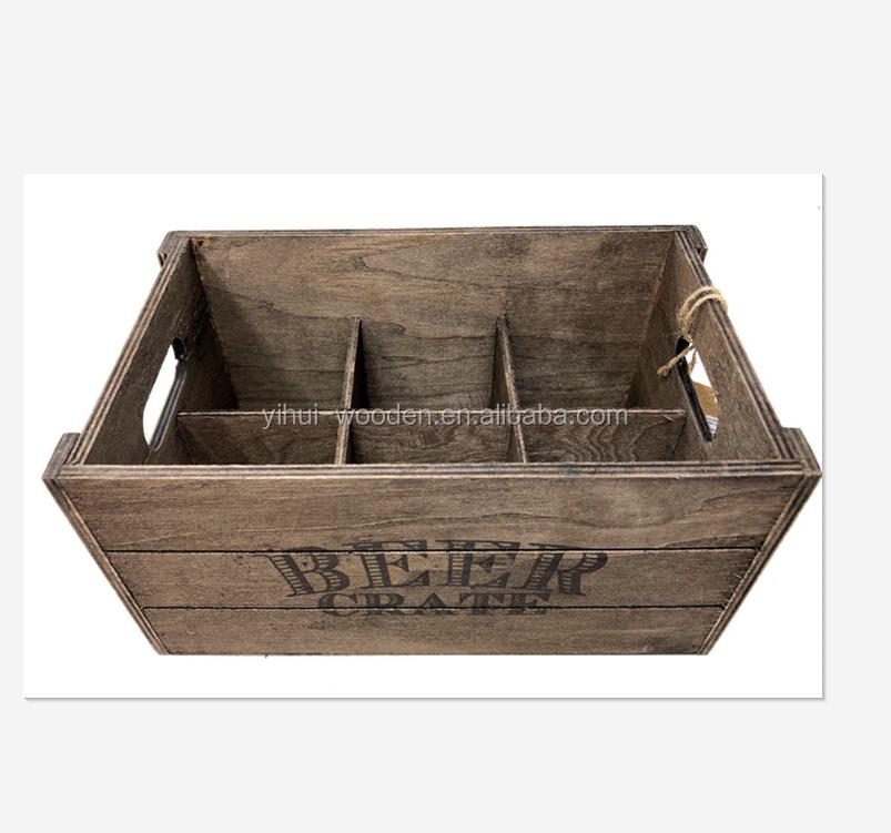 4,8 Decorative White Wooden Box Wine Box Fruit Crates Shabby Chic Standard Size