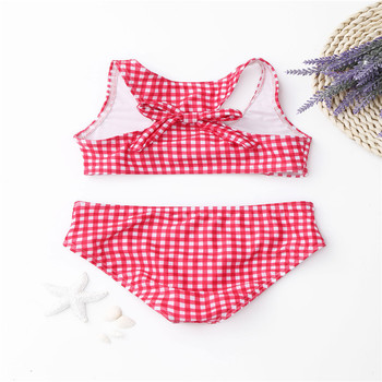 Stock Halter Neck Scoop Sporty Bikini Sexy Woman Swimwear