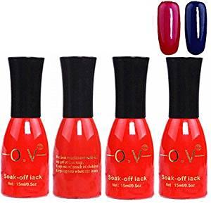 Tint 4PCS OV Red Bottle Soak-off UV Gel Set Top Coat+Base Gel+2 UV Color Builder Gel(No.83-84,15ml)