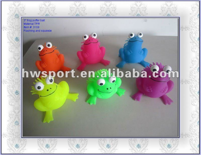 flashing frog toy.squeeze ball