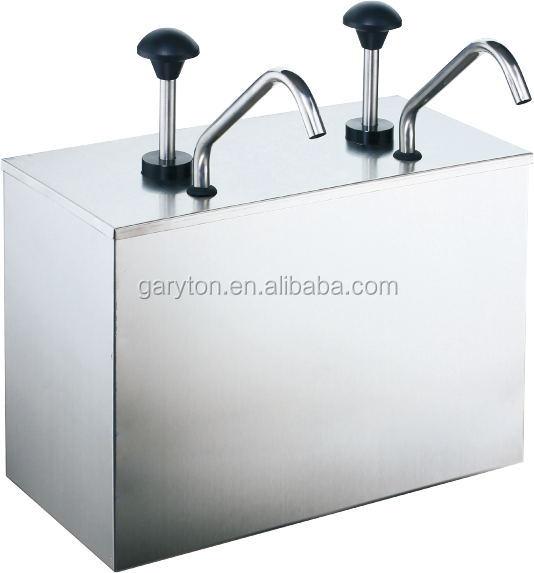 GRT-JZP-03 304Stainless Steel Condiment Server Condiment Pump Dispenser