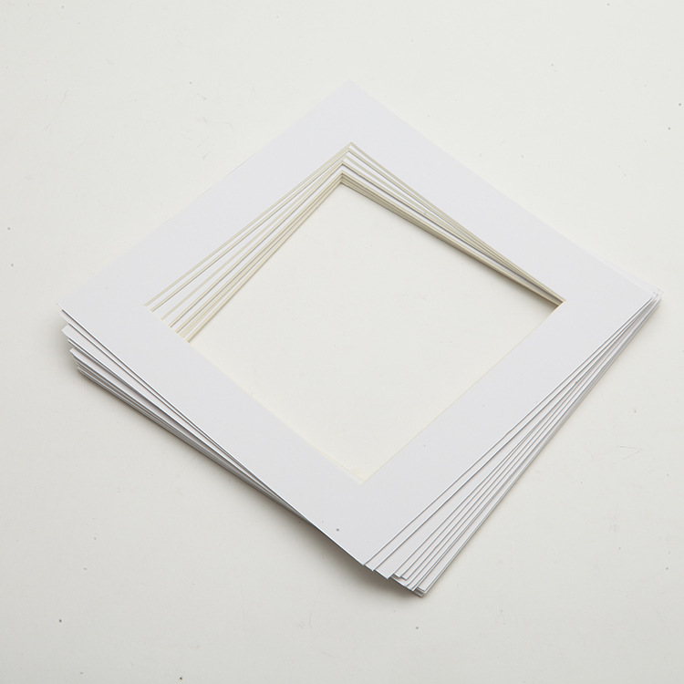 Pack of 25 11x14 WHITE Picture Mats Mattes with White Core Bevel Cut for 8x10 Photo + Backing + Bags