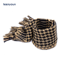 Arab style Scarves Men Winter Military Windproof Scarf 100% Cotton thin Tactical Desert Arabic Scarf