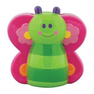 Funny ceramic butterfly Coin Bank for Kids