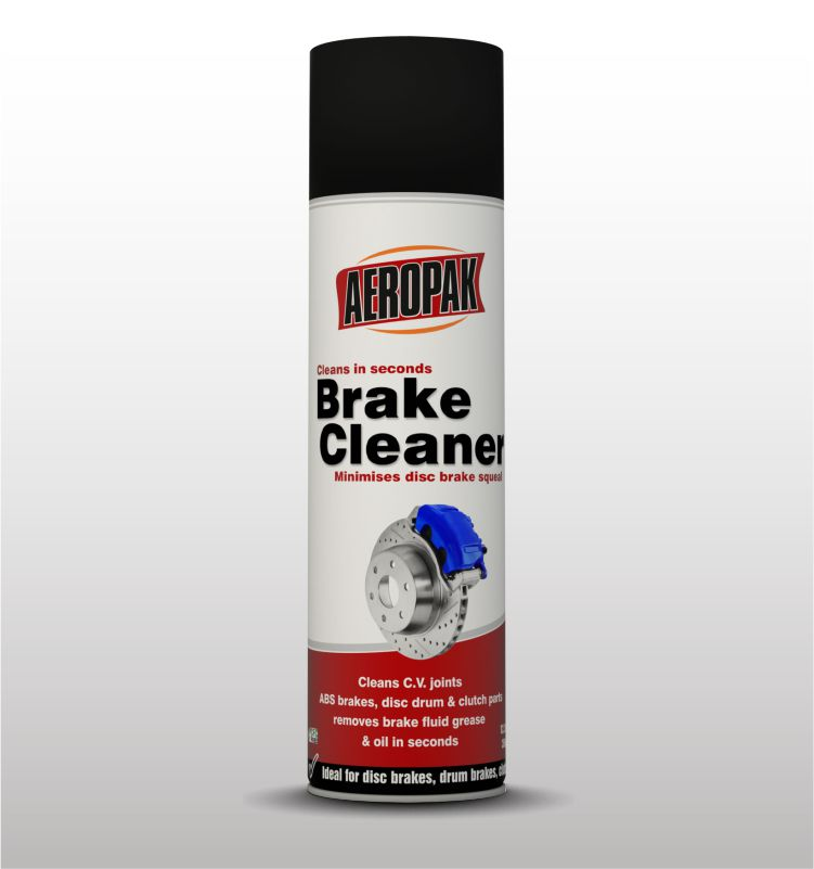 AEROPAK brand for remove restore capability to brakes 500ML Brake Cleaner spray with ROHS certificate