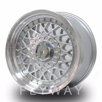 Flyway WW899 15x7.0 15x8.0 17x7.0 Sliver Machined Lip BBS Aluminum Alloy Wheel For Classic Old Car