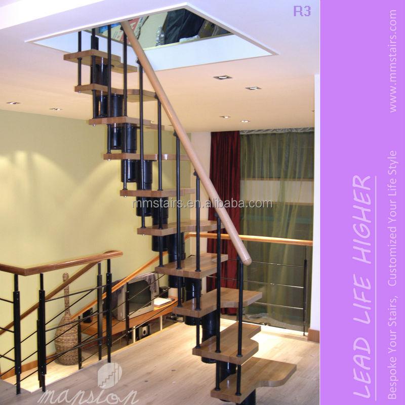 Diy ruimtebesparende trap penthouse trappen voor kleine ruimte trappen product id 1852251588 - Midden kamer trap ...