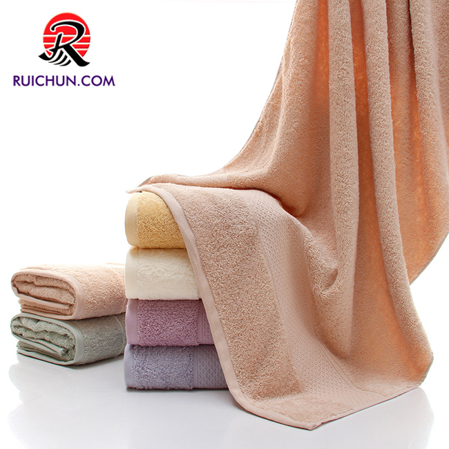 high quality large dobby bath towel 100% cotton