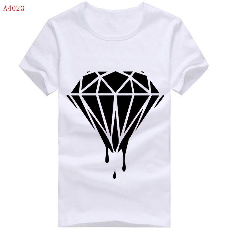 009752b95 Buy Summer Fashion Mens Diamond T shirts Black white Cool diamond supply  shirt Unique Design Short Sleeve Man T shirts in Cheap Price on Alibaba.com