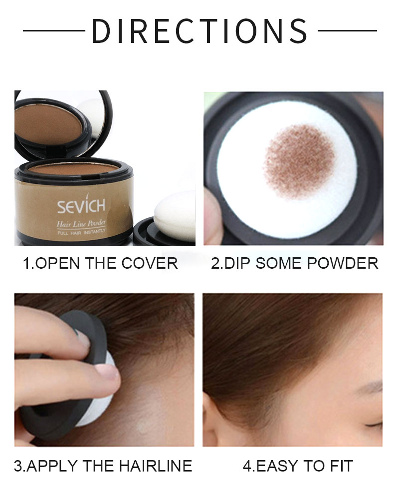 Instant Hair Loss Concealer Treatment Hair Line Color Shadow Powder