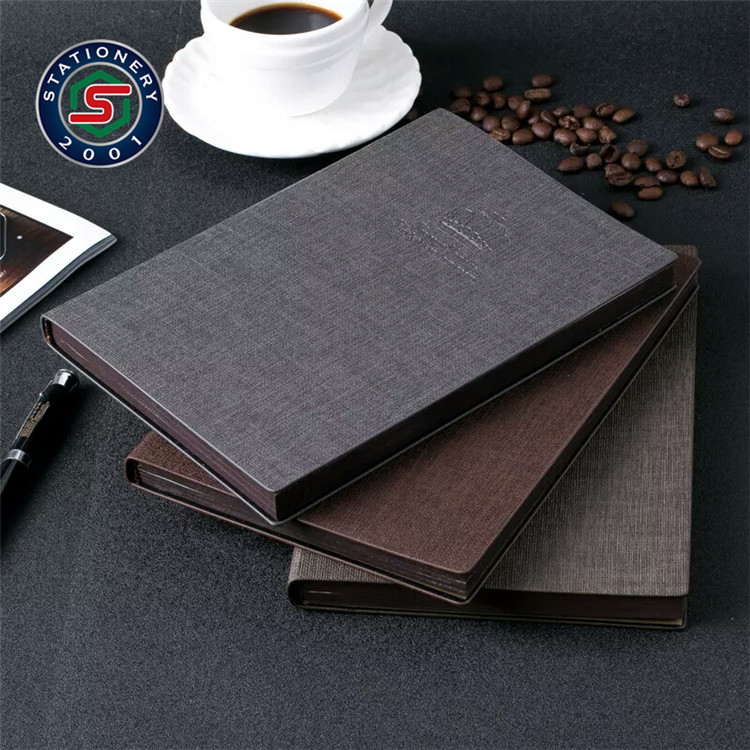 A5 size diary embossed leather journal book antique brown