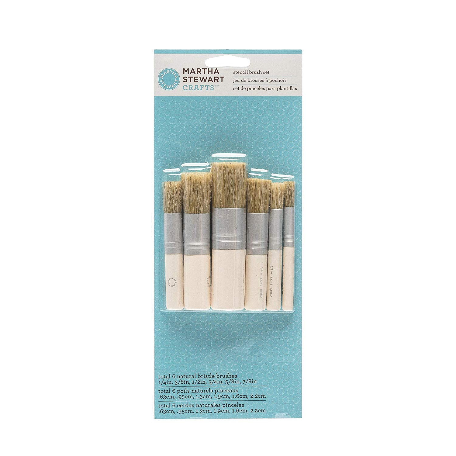 Martha Stewart Crafts Stencil Brush Set: 6 Pieces – 10033377