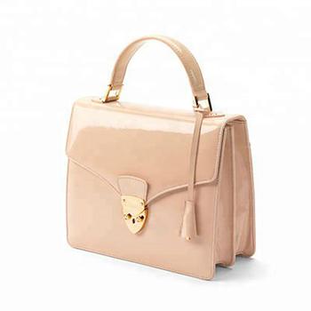 Handmade Pink Deep Shine Classic Chic Handbag