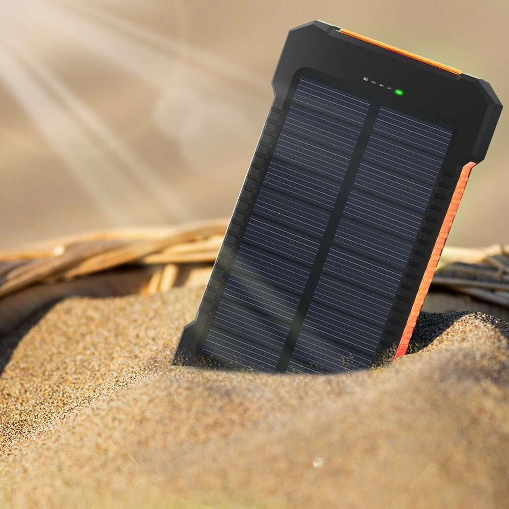 PSE CE ROHS Waterdichte Mobiele Mobiele Telefoon Oplader Solar Power Bank Oplader 8000 mah 10000 mah