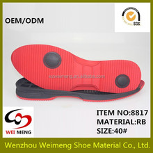 New durable running series rubber sole for wholesale 8817